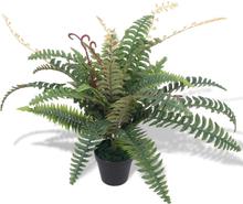 vidaXL Konstväxt Ormbunke med kruka 60 cm grön