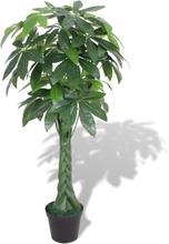 vidaXL Konstväxt Pengaträd (Pachira aquatica) med kruka 145 cm grön