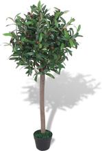 vidaXL Konstväxt Lagerträd med kruka 120 cm grön