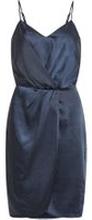 VILA Glansig Festklänning Kvinna Blå