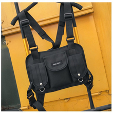 Men Function Tactical Chest Bag New Fashion Unisex Chest Rig Hip Hop Streetwear Cross Back-pack Women Solid Waist Shoulder Bag