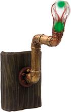 Skummel Pipe-Lampe med Lys - 33 cm Veggdekorasjon