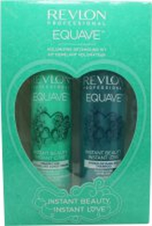 Revlon Equave Hydro Shampoo Duo Presentset 250ml + Volumizing Leave-In Spray Conditioner 200ml