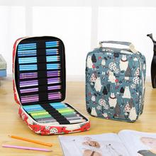 Large capacity stationery storage bag storage bag pen holder 72 hole pen holder 120 hole / 150 hole pencil bag color pencil case