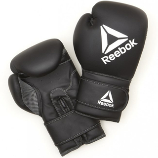 Reebok Retail 16 oz Boxing Gloves - Black/White