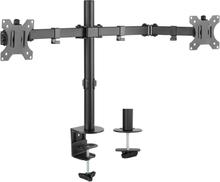 Nördic monitorarm för dubbla skärmar 13-32 tum i stål, lutbar,