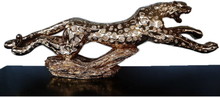 Steve Art Gallery Leopard i guld, skulptur 134x30x16 cm