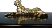 Steve Art Gallery Leopard i guld, skulptur 53x20x15 cm