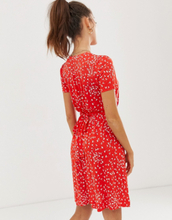 French Connection floral print skater dress-Red
