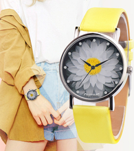 New Fashion Ladies Watch Womens Flower Casual Leather Analog Quartz Wrist Watches Quartz Clock Gifts Relogio Feminino 2019 Q60