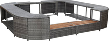 vidaXL Fyrkantig poolkant grå 268 x 268 x 55 cm konstrotting