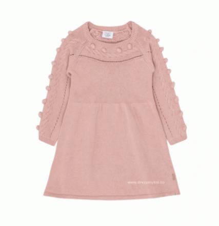 Hust and Claire strikket kjole til barn, rosa