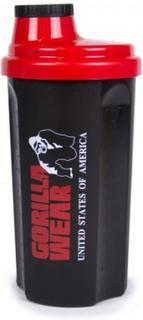 Gorilla Wear XXL Shaker 1 liter - Svart/rød - Risteflaske