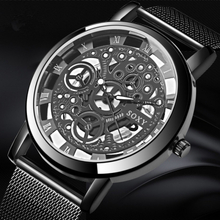 SOXY Skeleton Wristwatch Men Watch Reloj Hombre Mens Watches Luxury Hollow Out Clock Saati Relogio Masculino Relogio Saati Clock