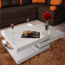 vidaXL Coffee Table Side Tables Furniture 3 Tiers Living Room Mesas De Centro Coffee Table High Gloss White Coffee Table V3