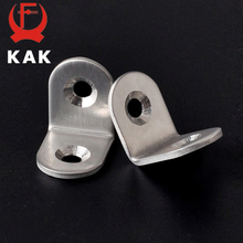 10PCS KAK 20x20x16mm Practical Stainless Steel Corner Brackets Joint Fastening Right Angle Thickened Brackets For Furniture Home
