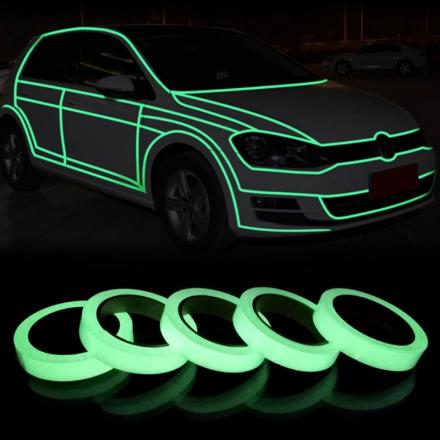 1PC 3M Green Luminous Tape Glow In The Dark Self-adhesive Warning Security Tape3