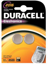 Duracell Electronics CR2016 Lithium Batteri - 2 stk.