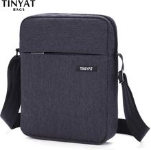 TINYAT Men's Bags Shockproof Men Shoulder bags for 9.7' pad Travel Crossbody bags Canvas men's Buiness Shoulder Bag Waterproof
