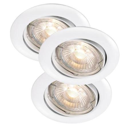 Nordlux Recess Innbygningsspots Utendørs 3-kit LED 3x3W/830 GU10, Hvit