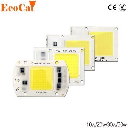 COB LED Chip 220V 50W 30W 20W 10W LED Matrix For Projectors Beads Cob Chip Spotlight for DIY Flood Light Outdoor Chip Lamp