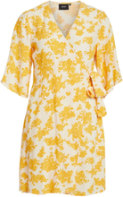 OBJECT COLLECTORS ITEM Wrap Short Sleeved Dress Women Yellow