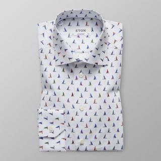 Eton Contemporary fit Skjorta med segelbåtar