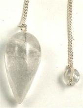 Pendel Bergkristall - droppformad med kedja