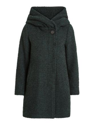 VILA Wool Coat Women Green