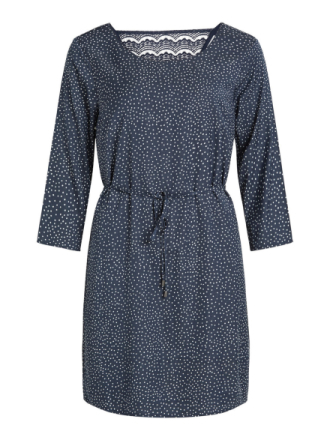 VILA Back Detail- Dress Women Blue