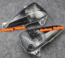 Motorcycle Front Turn Signals Indicator Lamp Blinker Lens Cover for Honda CBF600S VARADERO 1000 2004-2016 Smoke+E-Mark