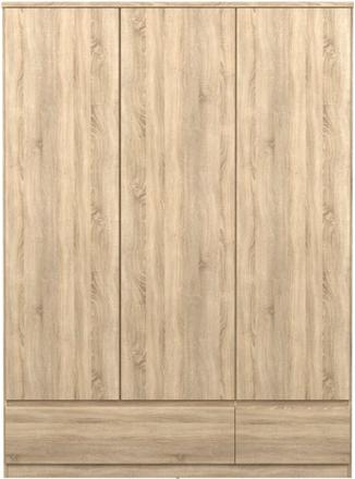 Tvilum Garderob Naia (3 dörrar + 2 lådor)-Ek