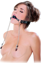 Pipedream Fetish Fantasy Extreme Deluxe Ball Gag & Nipple Cl
