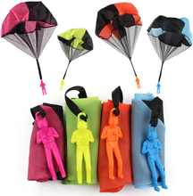 Hand Throwing Kids Mini Play Parachute Toy With Figure Soldier Outdoor Sports Children's Educational Toys Gifts