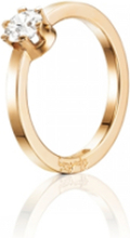Efva Attling Crown Wedding Ring Guld 0,50 Ct Diamant