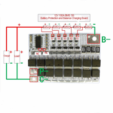 18V 100A BMS 5S 3.6V 3.2V rated voltage Li-ion LiFePO4 Lithium Balance Charging Board Charger Battery Protection Circuit Board