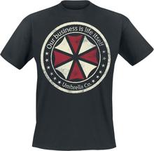 Resident Evil - Umbrella Co. - Our Business Is Life Itself -T-skjorte - svart