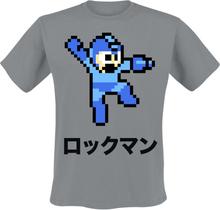 Mega Man - 8-Bit Character - T-shirt - grå