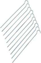 CAMPZ Teräs Telttavaarnat 25cm Suora, silver 2020 Telttakepit