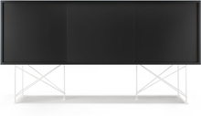 Decotique - Vogue Sideboard 180H, Antracit/3A/Hvit