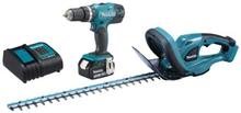 Makita pakke m/Hekksaks og Drill/ skruetrekker m/batteri 18 Volt/3,0 Ah