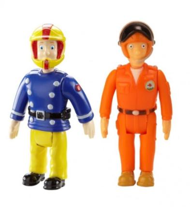 Brannmann Sam figur - Sam m/hjelm og Tom Thomas