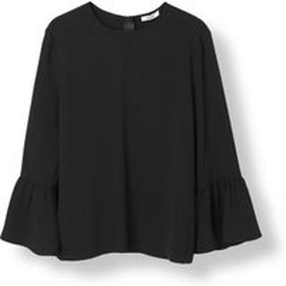 Sort Ganni Ganni Clark Blouse Sort Bluse Og Skjorter