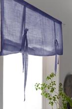 HILDA roll up-gardin - ekologisk Marinblå