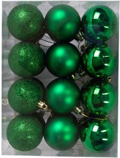 Julekugler - Grønne - Pakke med 24 stk. Måler 6 cm i diameter