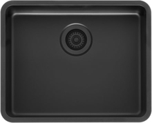 Lavabo Ohio diskho 54x44 cm, svart korgventil, jet black