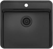 Lavabo Ohio diskbänk 54 x 51 cm, svart korgventil, jet black