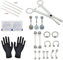 1set Body Piercing Verktyg Professionellt Piercing Kit Mage Body Ri