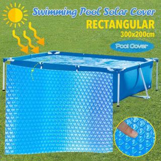 Fyrkantig Sol Presenning Rektangulär Hållbar Pool Skydd