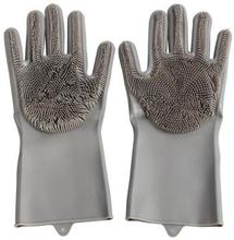 Rengøringshandsker i slidstærkt silikone - Mørkegrå